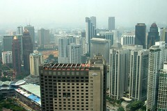 View from the Twin Tower skybridge, by elbisreverri