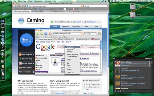 Making Camino look like a Leopard app