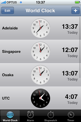 Screenshot from my iPhone showing 13:37