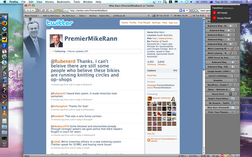 Twittering with Premier Mike Rann
