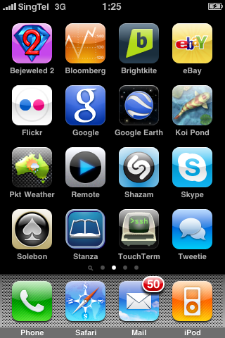 Unlocked Aussie iPhone in Singapore