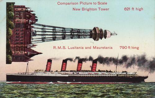 New Brighton Tower and Lusitania