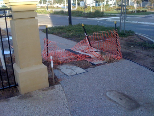 Broken footpath