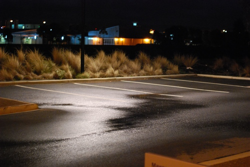 Drizzly parking lot