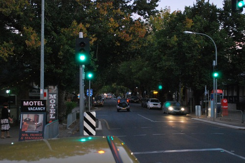 Getting dark in Hahndorf