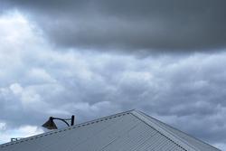 Grey sky, grey roof