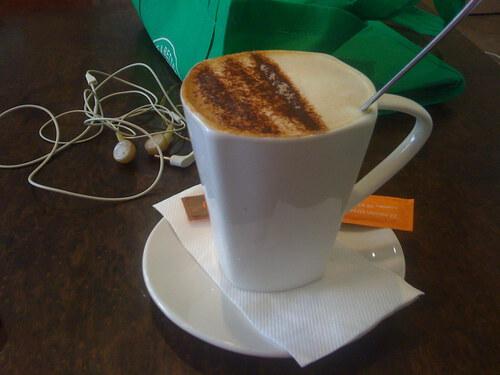 Mugaccino from the Boatdeck Cafe