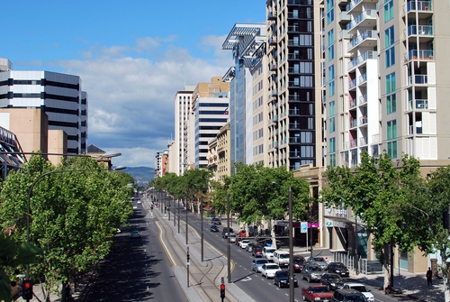 North Terrace in Adelaide
