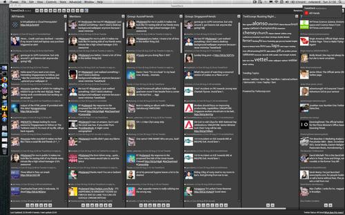 Screenshot showing Tweetdeck maximised on my MacBook Pro