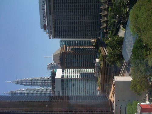 View out the hotel window, KL
