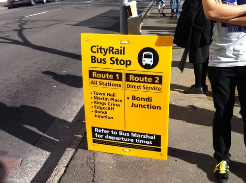 Replacement bus sign