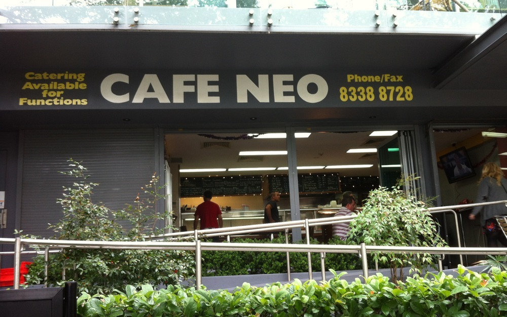 Photo of the outside of Cafe Neo in Mascot