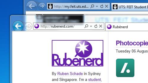 Rubenerd.com in IE9