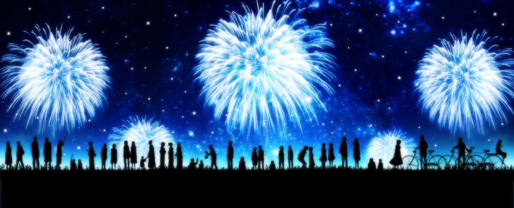 Fireworks after our event! Image by Harada Miyuki on Pixiv