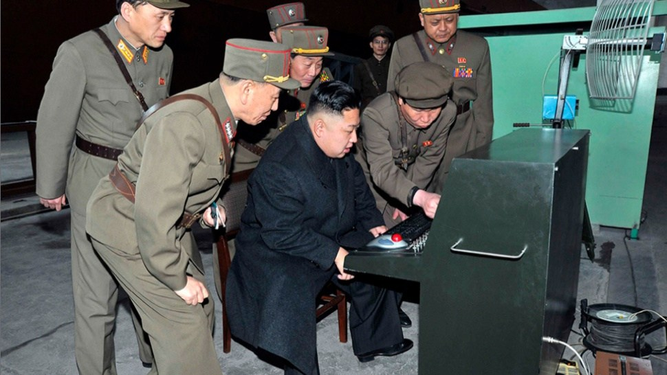 Photo from the North Korean media agency depicting Kim Jong Un using the same mouse as me