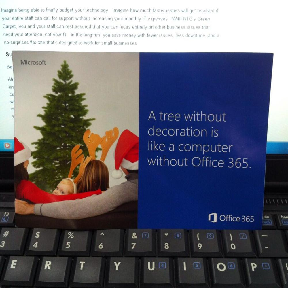 A tree without decoration is like a computer without Office 365