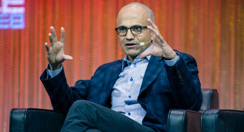 Satya Nadella, photo by LeWeb
