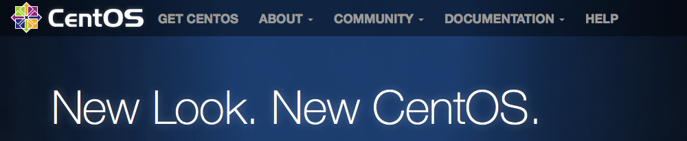 CentOS site saying: New Look, New CentOS