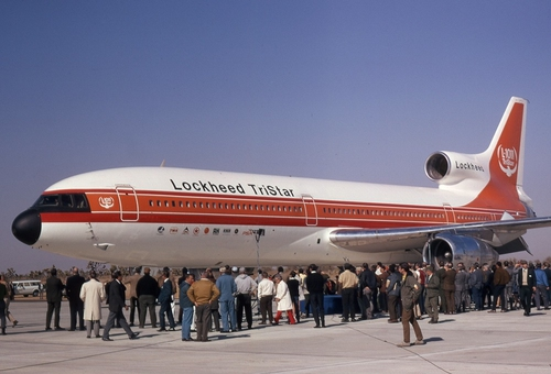 Photo of the first Lockheed Tristar