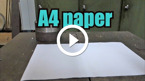 Play Can you fold paper more than 7 times with hydraulic press