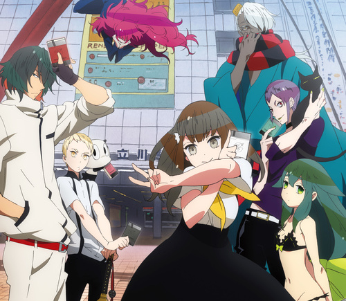 Official art from the Gatchaman Crowds anime from 2013
