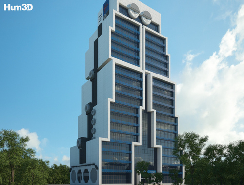 Rendering of the below-mentioned building