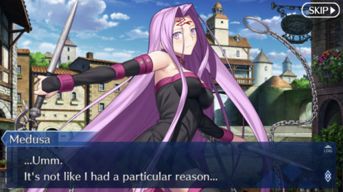 Medusa: ...Umm. It's not like I had a particular reason