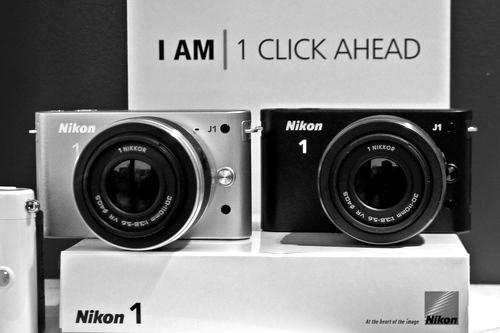 Two Nikon 1 J1s