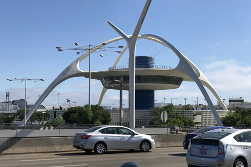 Photo of the Theme Building at LAX, taken from my phone