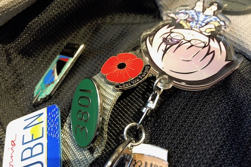 Lest we forget badge on my backpack