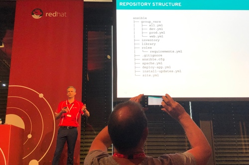 Richard Hailstorm showing an Ansible best practice tree structure.