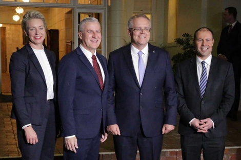 Our new prime minister, second from the right