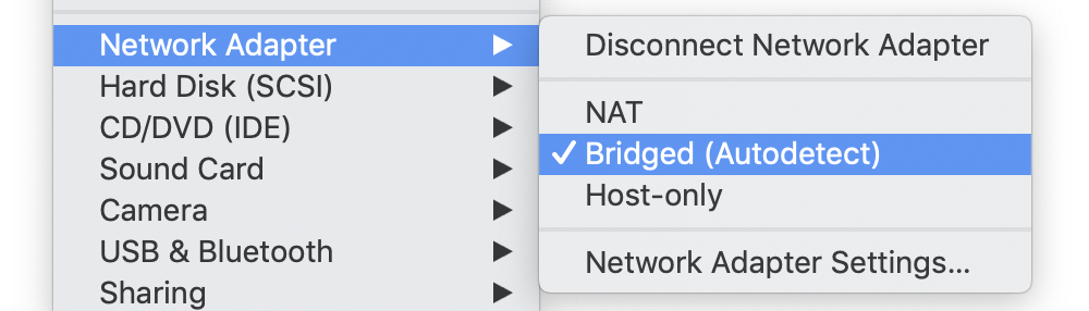 Screenshot showing the above menu.