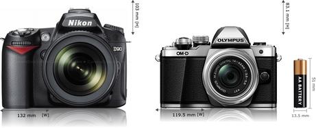 The Nikon D90 compared to the Olympus O-MD E-M10 MarkII