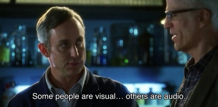 Hodges: Some people are visual… others are audio.