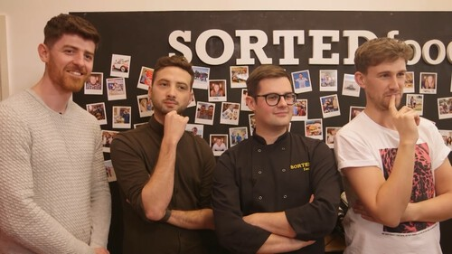 (View of the other delightful SortedFood gents looking on intently)
