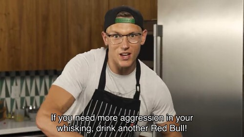 If you need more aggression in your whisking, drink another Red Bull!