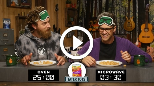 Play Microwaved vs. Oven-Baked Snack Taste Test
