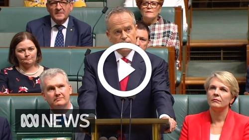 Play Opposition Leader Bill Shorten's 2019 Budget reply speech in full | ABC News