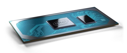 Photo from Intel showing their 10th generation mobile CPU.