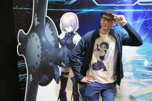 Photo of me with Mashu from Fate/Grand order, being awkward as usual!