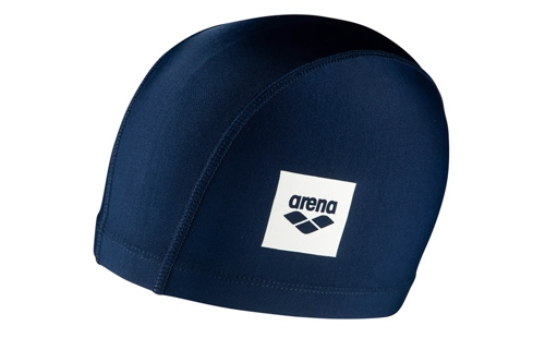 Photo of a navy-blue Arena swimcap
