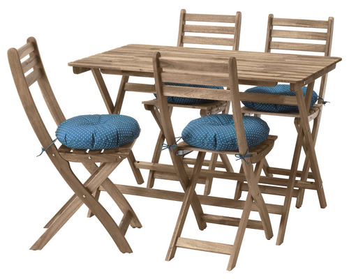 Photo of an ASKHOLMEN IKEA outdoor furniture set