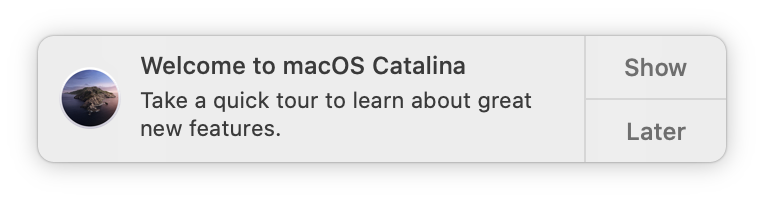 Welcome to macOS Catalina