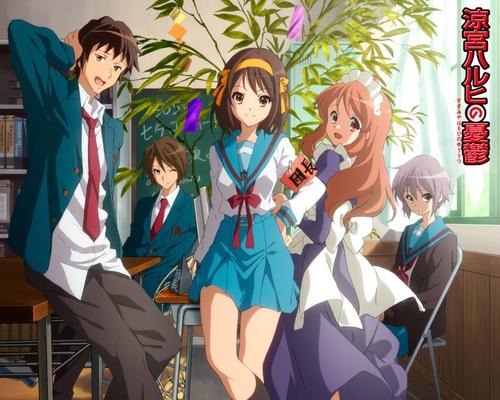 Promotional art of the Suzumiya Haruhi characters