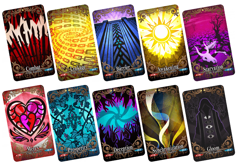Collage of the various new craft essences.