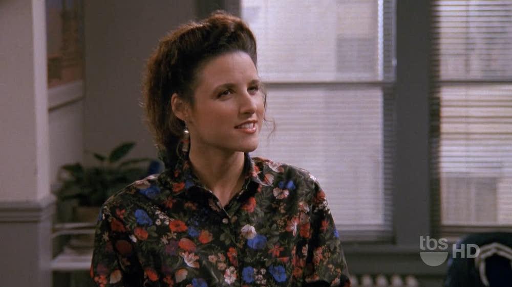 Elaine looking bemused