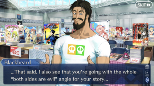 ... That said, I also see that you're going with the whole 'both sides are evil' angle for your story...