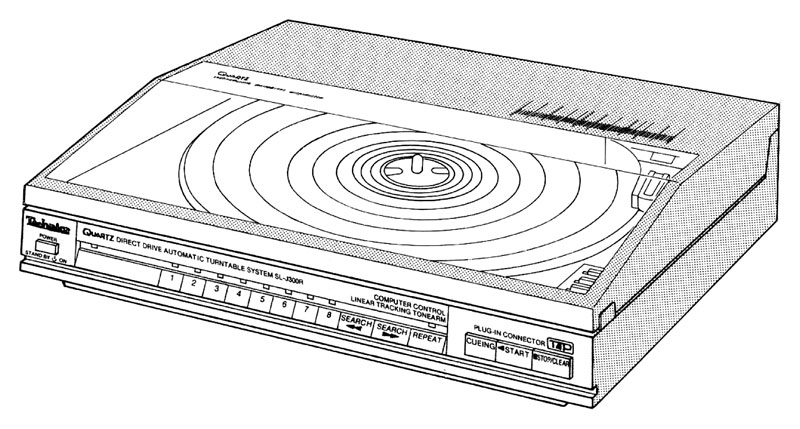 Photo of the turntable from the user manual