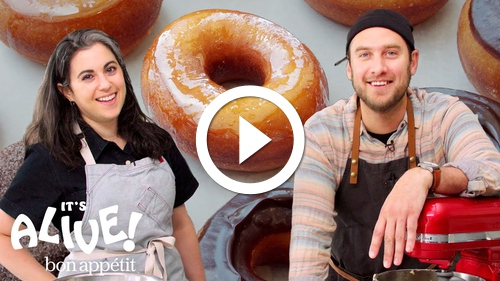 Play Brad and Claire Make Doughnuts Part 1: The Beginning | It's Alive | Bon Appétit